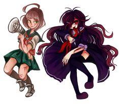 Transparent Render: Komaru Naegi and Genocider Syo by pekobukis.deviantart.com on @deviantART