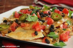 Puffy Nachos with Spicy Black Beans