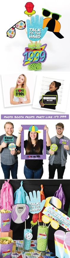 1990s Party Ideas - Throwback 90s Party Decorations from BigDotOfHappiness.com