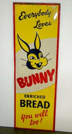 $OLD Bunny Bread SST Embossed Tin Vertical Sign