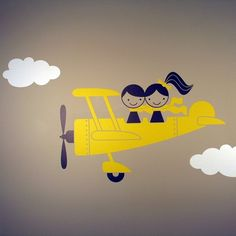 Airplane - simple drawing with simple people. Could be bus, train, car, etc.