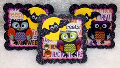 Halloween Owl Embellishments/Card Toppers -Set of 3 on Etsy, $3.99