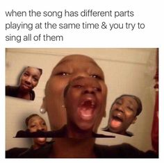 When You Singing The Main Verse And The Background Vocals All At The Same Time - Funny Memes. The Funniest Memes worldwide for Birthdays, School, Cats, and Dank Memes - Meme All Meme, Stupid Funny Memes, Funny Relatable Memes, Funny Posts, Funny Quotes, Funny Friday Memes, Humor Quotes, Monday Memes, Funny Tweets
