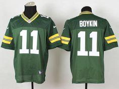 Men's NFL Green Bay Packers #11 Boykin Green Elite Jersey