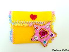 Magical Girl transformation star brooch with pouch - FREE SHIPPING by PauleenPotter on Etsy