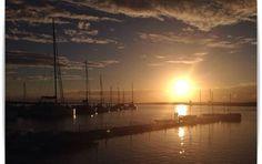 """Kamal: """"De este 2014 me quedo con las vacaciones que pase en El rompido, Huelva, un sitio tranquilo y maravilloso, os dejo una foto para que veáis que espectacular puesta de sol"""". #MiMomentoStoked2014"""