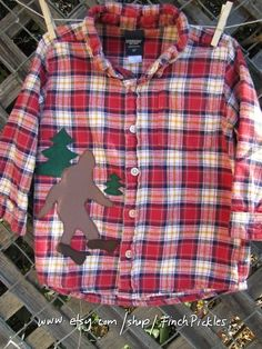 Bigfoot shirt Kids clothes Adorable upcycled by FinchPickles, $23.00