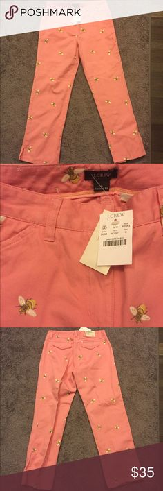 🆕 J.Crew Pink Bee Jeans NWT Favorite Fit Sz 0 ☀️ Brand new with tags! Thank you for looking! J. Crew Jeans Straight Leg