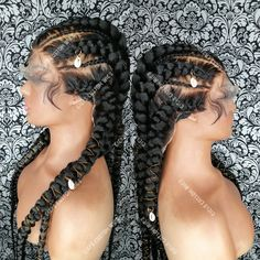 Braided Full lace wig 26 inches long with jewelry added