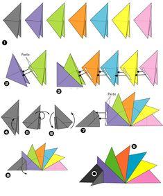 origami egel2 origami egel vouwen