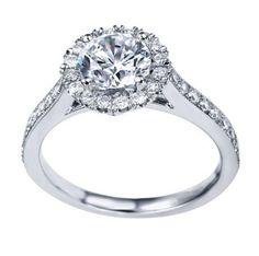 Engagement Ring 1 Ct. Diamond Channel Set Halo Color F Clarity VS2 - Bijoux & More LLC