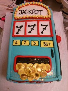 Birthday ideas on pinterest slot machine cake 75th birthday and