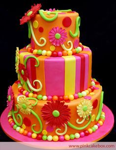 pink and green cakes - Google Search