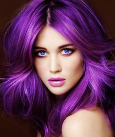 Volumized purple hair