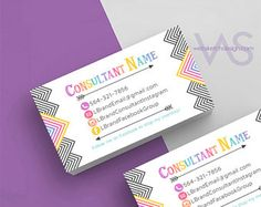 Girl Referral Card Design Information Consultant personalized