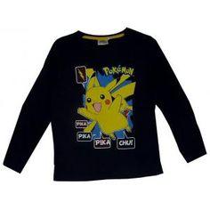 T-shirt Pokemon - Pikachu - Bleu marine