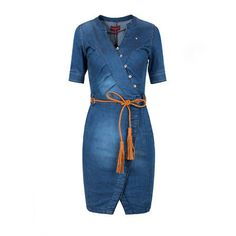 c99713e7d86 NEW Womens Jeans Dress Shirt Blouses Dress Tunic Denim Mini Dress Bodycon  Dress 36-46