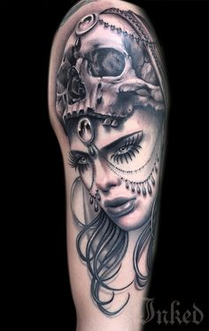 Ryan Ashley #InkedMagazine #art #tattoo #tattoos #Inked #Ink #skull