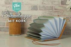 DIY: Sammelmappe mit Korkpapier einfach selber machen! Tutorial und Materialliste findet Ihre hier: https://www.deko-kitchen.de/diy-huebsche-sammelmappe-mit-korkstoff-selber-machen/