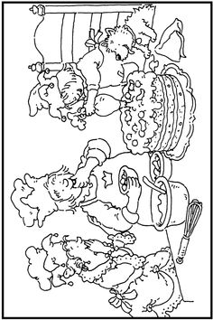 * Zelf-taart-bakken! Birthday Coloring Pages, School Coloring Pages, Colouring Pages, Coloring Sheets, Coloring Books, Restaurant Themes, Sprinkle Party, Whimsy Stamps, Coloring For Kids