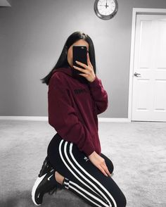 Pin by Outfit Ideen on Outfit Ideen Chill Outfits, Sporty Outfits, Mode Outfits, Cute Casual Outfits, Dance Outfits, Fashion Outfits, Fitness Outfits, Girl Fashion, Punk Fashion