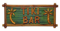 Tiki Bar Bamboo Tiki Sign