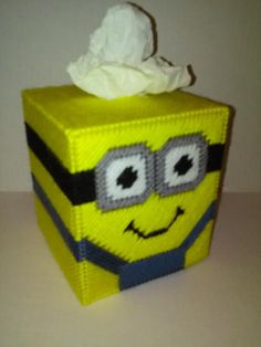 Minion Tissue Box Cover Boutique Box Cover by MaidenLongIsland