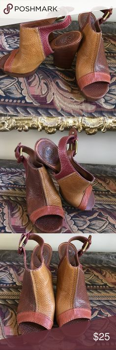☘️☘️LUCKY BRAND PEEP TOE HEELS-8.5☘️☘️ MULTI-COLOR (GOLD/RUST/BROWN) LEATHER HEELS 8.5 WITH 4.5 INCH HEEL. SUPER COMFORTABLE!! WORE A FEW TIMES. GREAT CONDITION!💕THANK YOU FOR VISITING MY CLOSET 💕 LUCKY BRAND Shoes Heels