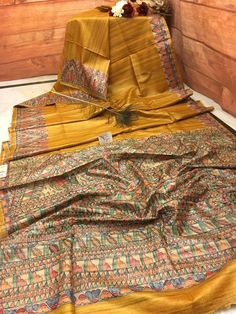 Now make your wardrobe stay updated for every occasion with IndyVogue - your latest fashion stop to buy sarees online. For online saree shopping in India or USA give us a call. Indian Sarees, Silk Sarees, Golden Yellow Color, Pakistani Fashion Casual, Saree Shopping, Saree Look, Buy Sarees Online, Saree Blouse Designs, Furnitures