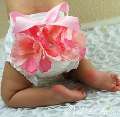 Blushing Baby Garden Diaper Cover Bloomers. So pretty & cute