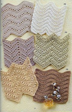 How to crochet zig-zag motives