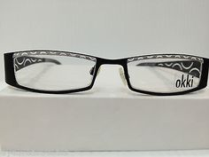 NEW AUTHENTIC OKKI FACTORY BR67 COL 210 BLACK EYEGLASSES FRAME HAND MADE ITALY