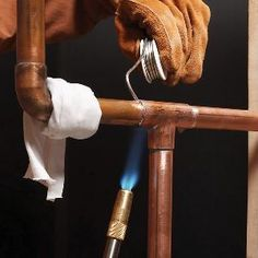 There& a right way to solder copper pipe—and a wrong way. Learn the difference so that your next bathroom or kitchen plumbing project is successful and trouble-free. Soldering Copper Pipe, Pex Plumbing, Gas Pipe, Copper Tubing, Copper Pipes, Plumbing Problems, Home Fix, Tips & Tricks, Ideas