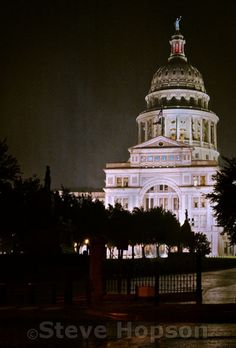 Texas Capitol in the Rain by Steve Hopson, via Flickr