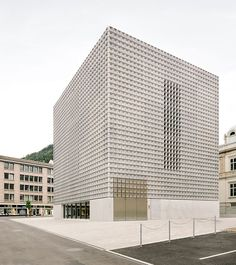 *모놀리틱 콘크리트 파사드 [ barozzi veiga ] monolithic extension to the fine arts museum in chur :: 5osA: [오사]