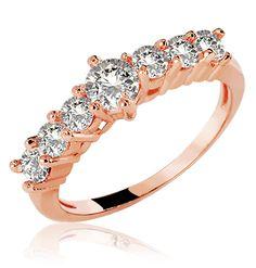 6e5449f637e ANEL 18K AQUATA DIAMOND ROSE Alianças De Casamento