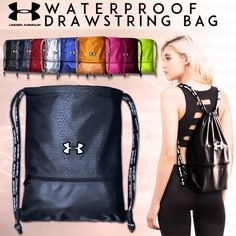 [S$6.90](▼83%)UNDER ARMOUR Waterproof Drawstring Bag◀Sports Backpack/Travel Bag/Shoe Bag/Shoulder Bag/ Soccer Basketball Bags/Unisex/HARVEST BAG/SHOULDER BAG/SMALL BAG/HAND BAG/SCHOOL BAG/CAMP/Travel Bag