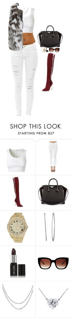 """""""Untitled #53"""" by laceyjulianna ❤ liked on Polyvore featuring Alaïa, Frame Denim, Sergio Rossi, Givenchy, Rolex, Lord & Berry, Thierry Lasry and Oscar de la Renta"""