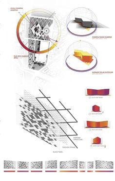 NOW Praewpailin Srisangnam 5434790525 Facade Diagram showing the sun path that… Site Analysis Architecture, Facade Architecture, Sun Path Diagram, Schematic Design, Project Presentation, Urban Analysis, Collage Illustration, Site Plans, Environmental Design