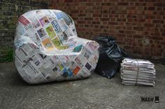 Strangely attracted to - a papier mache armchair...
