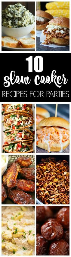 10 Best Party Slow Cooker Recipes for Parties via Pretty My Party