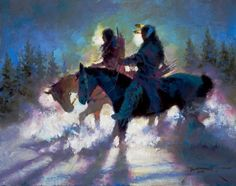 """""""The Luckless Hunters"""" painted by Dan Mieduch"""