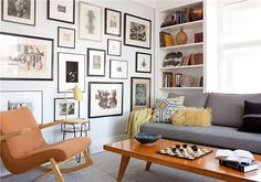 Stylish yet simple - supereasy to copy on a budget!     Transitional (Eclectic) Living Room by Jayne Michaels & Joan Michaels