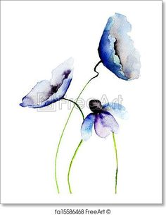 Find blue watercolor flower stock images in HD and millions of other royalty-free stock photos, illustrations and vectors in the Shutterstock collection. Watercolor Pictures, Watercolor Paintings Abstract, Watercolor Flowers, Tattoo Watercolor, Watercolor Ideas, Painting Flowers, Abstract Flowers, Flower Images, Flower Art