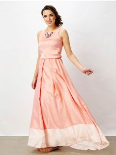 This trendy Coral Flowy Maxi from the house of The Label Life is a dress from your dreams, its cut is sure to flatter your lovely curves!