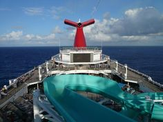 Carnival cruise ship water slide over the Gulf of Mexico