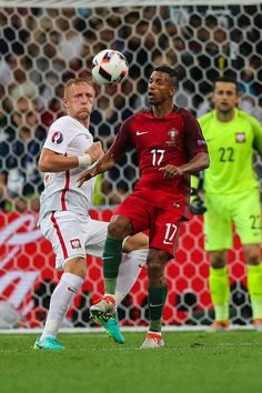 Nani Kamil Glik during the UEFA EURO 2016 quarter final match between Poland and Portugal at Stade Velodrome on June 30 2016 in Marseille France Portugal Euro 2016, Uefa Euro 2016, 2016 Pictures, World Football, European Championships, June 30, European Football, Poland, France