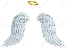 Angel Design Elements - Wings And Golden Halo Stock Illustration - Illustration of bird, feather: 31063409 Light Background Images, Photo Background Images, Editing Background, Background For Photography, Angel Wings Painting, Angel Wings Drawing, Angel Art, Angel Wings Png, Wings Wallpaper