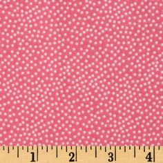 Michael Miller Garden Pindot Blossom Pink/White from @fabricdotcom Designed for Michael Miller Fabrics, this cotton print features scattered polka dots in white on a pink background. Use for quilting and craft projects.