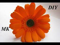 Гербера из фома МК\How to make Foam Flower, DIY, Tutorial Foam - YouTube